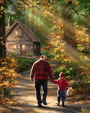 Walking with Granddad by Dona Gelsinger