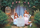 Vintage tea party in the garden