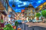 Kaysersberg-half-timbered houses-Alsace-France