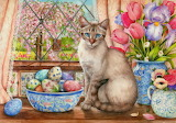 Painting-Easter Cat