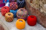Bright colored yarn