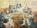 Feline Turkey Feast