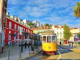 Yellow tram of Lisbon