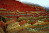 Colored rocks Zhangye Danxia China