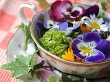 Blooms in teacup