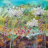 flowers by a wall, Angela Oswald