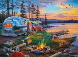 Camping Reflections By Darrell Bush