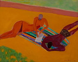 Ken Done: Figures on a Striped Towel (2007)