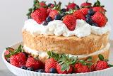^ Angel food strawberry shortcake