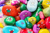 Colours-colorful-painted stones