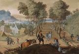 Dorflandschaft mit Bauern by Sebastiaen Vrancx