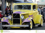 Classic-old-car-yellow-pink-