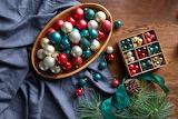 Balls decoration Christmas tree