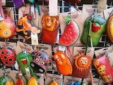 Market, handicraft, purses, Bulgaria
