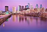 Sunset Philadelphia and Schuylkill River