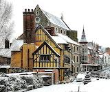 ^ Winter, Shrewsbury in Shropshire, England