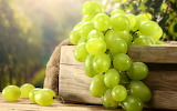 Green grapes in box