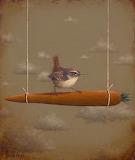 Bird on Carrot