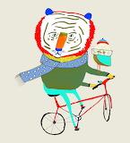 Tiger 'n Bird on Bike