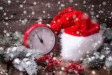Reloj en navidad