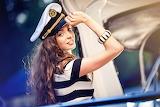Girl, hat, bracelet, boat