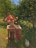 Jim McVicker - Roses and Apples - plein air