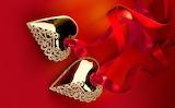 Valentine's day, hearts, riboon, jewelry