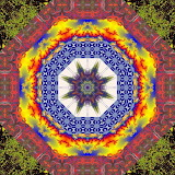 Colorful kaleidoscope abstract kg21