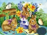 ☺ Sweet Easter bunnies...