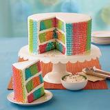 ^ Gingham Basket Weave Checkerboard Cake