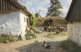 Painting-The watermill- Peder Mørk Mønsted