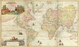 Mapamundi de Van Keulen, siglo XVIII