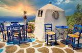 Greek outdoor tavern