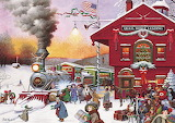 Whistle Stop Christmas - Charles Wysocki