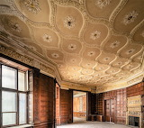Details of ceiling in paneled room Adria Palace Hungary