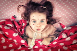 Girl, freckles, thermometer, blanket, funny, child