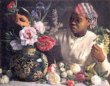 Art-Painting-Portrait-African_Woman_with_Peonies