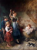 Children with Kitten by Heinrich Hirt