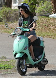 Selena Gomez Rides a Scooter