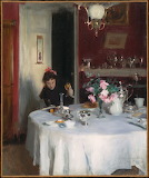 John Singer Sargent, Breakfast table, 1883