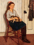 Emily Coonan, Girl and Cat, ca 1920