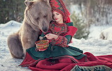 Girl, mood, the situation, bear, bear, outfit, treat, porridge,