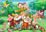 The Seven Dwarfs Pose for a Picture