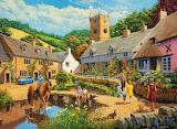 Village Life Painting