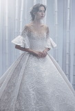 Wedding Gown with Illusion Top