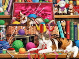 Kitties and Yarn