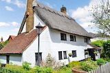 White thatched cottage