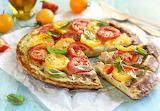 Tomato frittata pizza