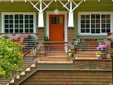 Cedar front porch