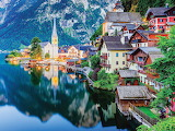 Alpine lake village